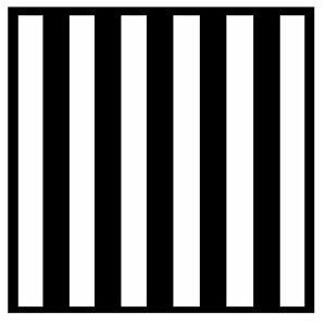 Noir et Blanc Rayures - Set De 4 Nouveauté Amusant sous-Verre - Tout Neuf /