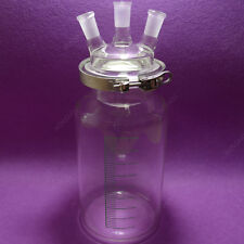 5000mL,24/40,3 necks,Cylinder Reactor,Flat Bottom Reactor with easily clamp