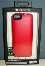 Mophie Juice Pack Helium 1500mAh 80% Zusatzakku/Schtzhülle iPhone 5/5S/SE red