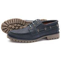 Samuel Windsor Deck Shoe Prestige Navy Leather Lace-Up Boat Shoes UK Sizes 5-14