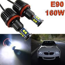 160W High Power White H8 LED Angel Eye Halo Ring Mark Light for BMW E90 E92 E93