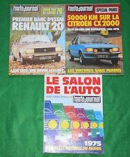 Lot de 20 revues année 1975 de L'AUTO JOURNAL + Le N° spécial SALON