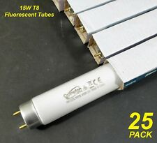 BOX 25 x 15W T8 Fluorescent Tubes Lamps 4000K Cool White 450mm Crompton