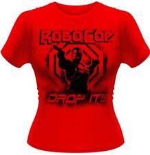 Camisas y tops de mujer de manga corta rojos de 100% algodón