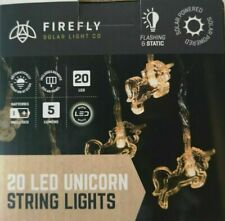 Firefly ~ Unicorn ~ Solar String Lights ~ 20 LED Lights ~ Garden / Outdoor
