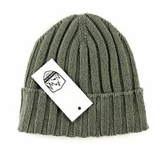 Men's COUNTRY CLUB Italy Crocodile Green Cashmere Knit Beanie Hat Cap S/M $195!