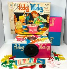Vintage Feeley Meeley Game 1967 Milton Bradley With Box Missing Shopping Cart