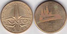 NATO Prag 2002, Rückseite hologrammartig gestaltet, etwa 26 mm & 10 Gramm