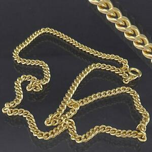 Shorter Princess Length Solid 14k Yellow GOLD CURB LINK NECKLACE 410mm 13.4gm