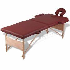 Inklapbare massagetafel 2 zones met houten frame (Rood) massage tafel behandel
