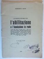 Le nuove norme per l'abilitazione e l'immissione in ruoloGhio 1972 legge scuola