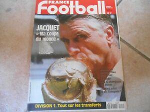 FRANCE FOOTBALL N°2728  SPÉCIAL FINALE COUPE DU MONDE 1998 COMPLET