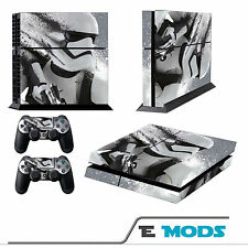 Star Wars Stormtrooper Playstation 4 Console Skin Vinyl + 2 Controller stickers