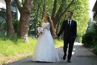 Hochzeitskleid Brautkleid Perlmutt Weiß Hochzeit Kleid 36/38