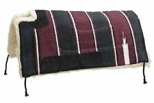 "Navajo Cutback Wither Fleece Back Saddle Pad 30"" x30"" Blue Green Burgundy"