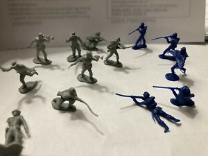 Vintage Lot Of 12 1960s GIANT BRAND ACW SOLDIERS VG-EX Condition