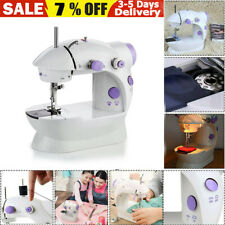 Portable Electric Mini Sewing Stitch Machine Adjustable 2 Speed Foot Pedal LED U