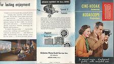 Cine-Kodak Cameras Kodascope Projectors 1950's Brochure Eastman Kodak Photos