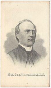 Joseph Salzmann Catholic Priest Northwest America 19th C Engraved Portrait Card