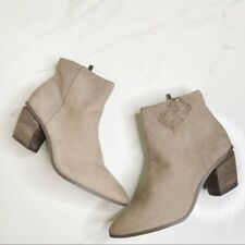 Vince Camuto Nubuck Pointy Leather Booties Ankle Boots Size 7.5