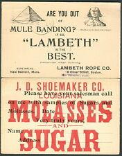 1892//1897 UX10 (23), UX12 (33) 1¢ postal cards w/ads insurance, medical, etc