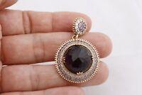 Turkish Hurrem Jewelry Round Cut Amethyst Topaz 925 Sterling Silver Ring Pendant