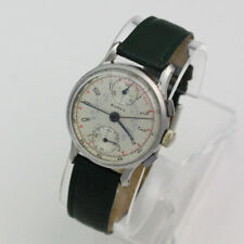 Collectible Stainless Steel Buren Chronograph Up Down Indicator 17J Wristwatch