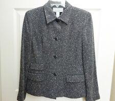 Liz Claiborne Collection Black Tweed Wool Blend Blazer Jacket EUC  10P Petite
