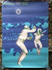 Munich München 1972 Olympic Games A0 poster print Fencing  Escrime by Otl Aicher