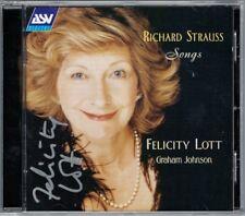 Felicity LOTT Signiert STRAUSS Lieder Ophelia Morgen Ständchen Graham JOHNSON CD