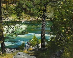 Virgia West Payette River Idaho Original Oil Landscape Painting on Canvas 16x20
