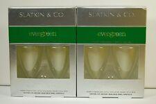 EVERGREEN Bath Body Works Slatkin Wallflower Refills - 4 Fragrance Bulbs