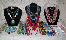 23 Piece Modern Colorful Beaded Necklace Lot - Trifari