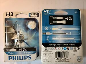 Philips 12336PRB1 30% H3 55w Fog Light Bulb Lap Vision Replacement (1 Pair)