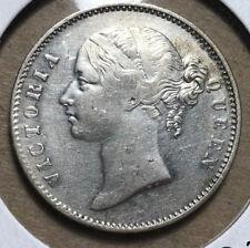 1840 British India 1 Rupee Queen Victoria Silver Coin