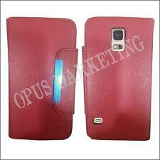 Custodia Flip Cover Finestra Stand per Huawei P8 Lite Smart Fucsia
