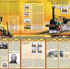 """BRD 2013: Dampflok """"Saxonia""""! Erinnerungsblatt mit Viererblock der Nr 3027! 1911"""