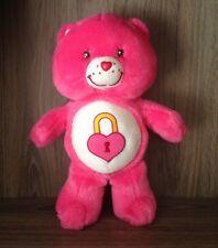 Care Bears Secret Bear Plush 13' inch 2004 Rare stuffed toy animal pink lock