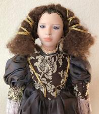 "Uta Brauser Tiziana Renaissance Medieval 22"" Doll Lovely Gown Signed 208/800"