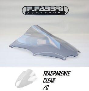 K023/C FABBRI Cupolino DOUBLE BUBBLE Trasparente per Kawasaki ZX-9R 2000 2001