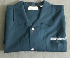 Cubavera Mens Black Casual Roland Spell Out Music XL Short Sleeve Camp Shirt