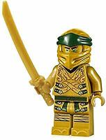 NEW Authentic LEGO Ninjago Lloyd Golden Ninja - Legacy - njo499 70666 w/Katana