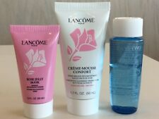 Lancome LOT 3: Creme Mousse Confort Cleanser, Rose Jelly Mask, Bi-Facil Trvl Set