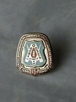 Pin United Brotherhood of Carpenters and Joiners 15 Year Service Labor Union