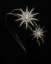 Hématite noir gris Étoile Flocon de neige Tchèque Cristal Serre-tête Bandeau Tiara