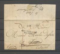1817 Lettre DEB 13/VIRE, au recto MARTINIQUE + COLONIES PAR/NANTES SUP X5117