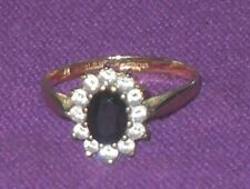VINTAGE 1989 STUNNING 9ct GOLD CZ STONES CLUSTER RING FULLY HALLMARKED Size R