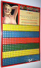 Vintage Punch Sales Board Gambling Game Pin-Up Girl Chocolate Cherries Unpunched
