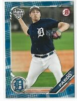 2019 Topps Bowman Holiday Blue Festive Parallel Alex Faedo Detroit Tigers 62/150