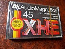 CASSETTE TAPE BLANK SEALED  1x (one)  AUDIOMAGNETICS XHE 45 - EXTRA HIGH ENERGY